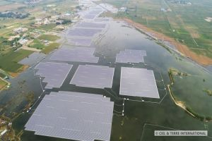 Най-голямата плаваща соларна централа в света започна да работи в Китай